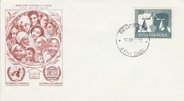 YOUGOSLAVIE  FDC 1958 30 ANS DROITS DE L'HOMME - FDC
