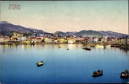 CPA Patras Griechenland, Ruderboote, Blick Zum Ort, Photochromie Purger 13334 - Griekenland