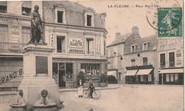 DPT 72 LA FLECHE Place Henri IV CPA  TBE - La Fleche