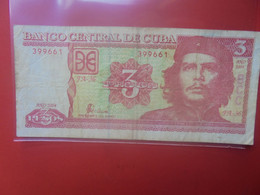 CUBA 3 PESOS 2004 Circuler (B.24) - Cuba
