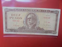 CUBA 10 PESOS 1987 Circuler (B.24) - Cuba