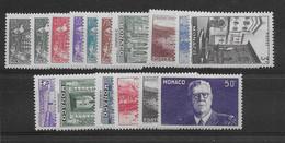 Monaco N° 249/264 - Neuf ** Sans Charnière - TB - Unused Stamps