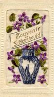 SAINTE MENEHOULD  = Souvenir - Carte Brodée       2494 - Sainte-Menehould