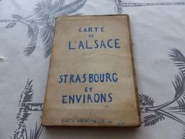 CA-52 , Carte De L'Alsace, Strasbourg Et Environs, Carte D'état Major, Au 1/50.000, 1920 - Cartes Géographiques