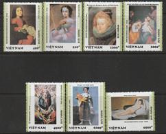 VIETNAM - N°1334/40 ** (1992) Peintres Espagnols - Vietnam