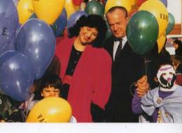 69 VILLEURBANNE Carte De Voeux Du Maire Charles Hernu , Inauguration Du Giratoire Patrick Raynaud, Ballons - Villeurbanne