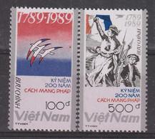 VIETNAM - N°987/8 ** (1989) Bicentenaire De La Révolution Française - Vietnam