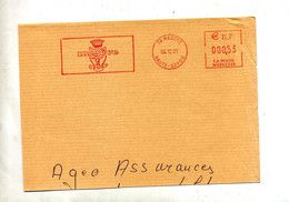 Grand Fragment De Lettre Flamme Ema Megeve Ville - EMA (Printer Machine)