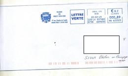 Lettre Flamme Ema Creil Mairie Precy Sur Oise - Affrancature Meccaniche Rosse (EMA)
