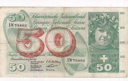 SUISSE BILLET DE 50 FRANCS 1955 - Suisse