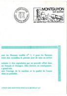 CHARENTE Mme - Dépt N° 17 = MONTGUYON 1975 = FLAMME FDC Codée à DROITE = SECAP Illustrée' DOLMEN + Sa Vieille Tour' - Oblitérations Mécaniques (flammes)