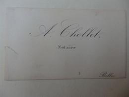 Carte De Visite A. Chollet Notaire Bolbec (76). - Cartoncini Da Visita