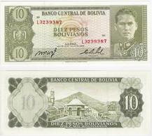 Bolivia 10 Bolivianos 1962 P 154 UNC - Bolivia
