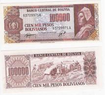 Bolivia 100.000 100000 Bolivianos 1984 P 171 UNC - Bolivia