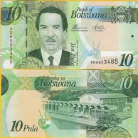 Botswana 10 Pula P 30d 2014 UNC - Botswana