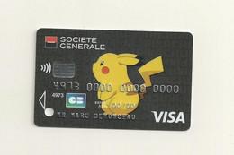 CARTE DE DEMONSTRATION VISA  THEME  POKEMON. - Credit Cards (Exp. Date Min. 10 Years)