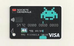 CARTE DE DEMONSTRATION VISA  THEME  SPACE AVENGERS. - Credit Cards (Exp. Date Min. 10 Years)