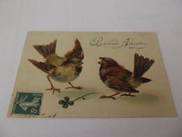 CPA Fantaisie Petit Oiseaux Bonne Année - Neujahr