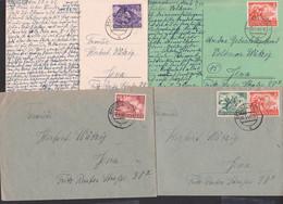 """Braunschweig 4 Belege Mit SoMkn """"Tag Der Wehrmacht Und Heldengedenktag"""", Dabei 6-Bilder-Ak - Briefe U. Dokumente"""