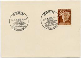 DT.REICH 1941, NR. 768, SST, GREIN, STADTERHEBUNG, SAMMLERBELEG! - Covers & Documents