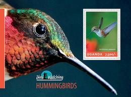 MDB-BK8-424 MINT ¤ UGANDA 2014  BLOCK ¤ HUMMINGBIRDS - OISEAUX - BIRDS - PAJAROS - VOGELS - VÖGEL - - Kolibries