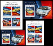 S. TOME & PRINCIPE 2018 - Lamborghini - YT 6365-72 + BF1191-2, CV=46 € [ST18418] - Voitures