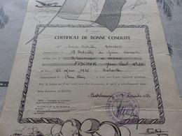 CA-86 , Certificat De Bonne Conduite, 17e Bataillon Du Génie, Castelsarrasin, 1952 - Documents