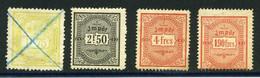 Fiscaux Wagons-lits - Revenue Stamps