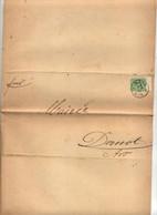 Lettre Cachet Metz Sur Chiffre Pour Mairie Dornot Assurance Des Ouvriers - Lettres & Documents