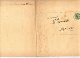 Lettre Cachet Metz Sur Chiffre Pour Mairie Dornot  Invitation Reception - Covers & Documents