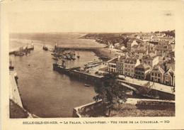 BELLE ILE EN MER  Le Palais ,L'Avant Port ,Vue Prise De La Citadelle RV - Belle Ile En Mer