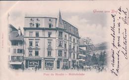 Gruss Aus Biel, Bienne, Pont Du Moulin, Mühlebrücke (23.9.1899) - BE Berne
