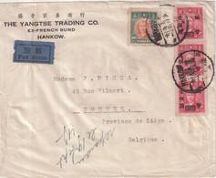 """CHINE : PA . """" HANKOW """" . POUR LA BELGIQUE . 1945/49 . - Brieven En Documenten"""