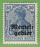 MiNr.15 X (o.g.) Deutschland Deutsche Abstimmungsgebiete Memelgebiet - Memel (Klaïpeda)