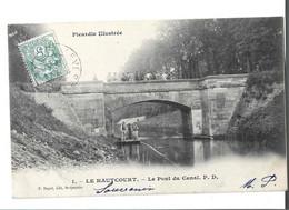 02 - HAUTCOURT  - Le Pont Du Canal Animé Bon état - Autres Communes