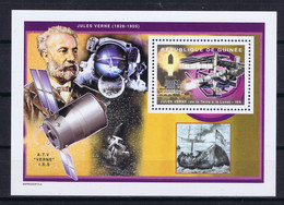 Guinea (Republic) Space 2004 Tribute To Jules Verne And Nautilus, 35th Anniversary Of Apollo 11 With Station ISS - Guinea (1958-...)