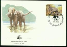Fd Sri Lanka FDC 1986 MiNr 755   Endangered Species Conservation Sri Lanka Wild Elephant Cow Elephant WWF - Sri Lanka (Ceylon) (1948-...)