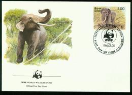Fd Sri Lanka FDC 1986 MiNr 753   Endangered Species Conservation Sri Lanka Wild Elephant Bull Elephant WWF - Sri Lanka (Ceylon) (1948-...)