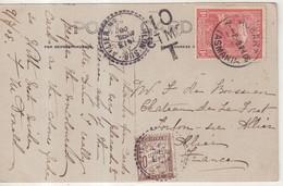 "TASMANIE : CP PHOTO . OBL . "" HOBART "" . POUR LA FRANCE . TAXEE . 1909 . - Briefe U. Dokumente"