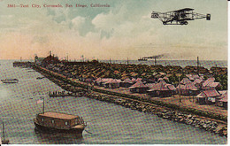 26281California, Tent City Coronado San Diego (with Plane) (3861) (Little Crease Left Up / Down) - San Diego