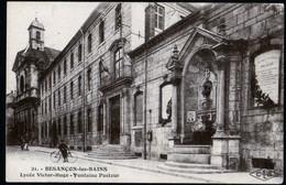 Besançon Lycée Victor Hugo Et Fontaine Pasteur Ed CLB écrite 20 Novembre 1924 Cachet FM TB - Besancon