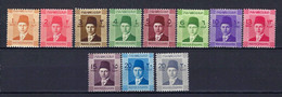 ⭐ Egypte - YT N° 187 à 195 A ** - Neuf Sans Charnière - 1937 / 1944 ⭐ - Nuevos