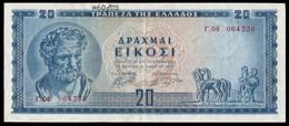 Greece (Kingdom) - Bank Of Greece, 20 Drachmai 1.3.1955 (B0391) - Greece