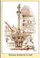 L'ALSACE MERVEILLEUSE DESSIN D'APRES NATURE DE MICHEL PERREARD MOLSHEIM FONTAINE DU XVIè SIECLE - Alsace