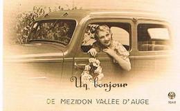 14  UN BONJOUR    DE  MEZIDON  VALLEE  D' AUGE    CPM  TBE   806 - Andere Gemeenten