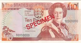 Jersey Banknote One Pound C Series, Code KC Specimen Overprint- Superb UNC Condition - Jersey