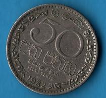 SRI LANKA 50 CENTS 1982 KM# 135.1 - Sri Lanka