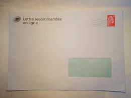 Entier Postal PAP De Service Lettre En Ligne La Poste Pour Envoi De Courrier Via Laposte.fr / Lettre Recommandée Format - Prêts-à-poster:Stamped On Demand & Semi-official Overprinting (1995-...)