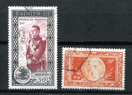 Monaco 1949/50 Mi 370 & 414 Used CV 19 Euro 11355 - Used Stamps