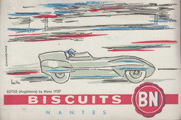 BUVARD BISCUITS BN Lotus Le Mans 1957 - Alimentare